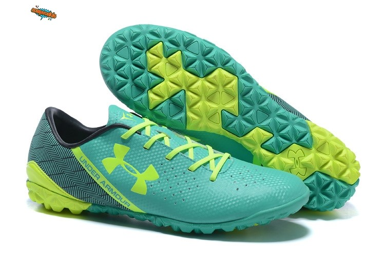 Nuove Under Armour Clutchfit Force TF Nero Verde Verde Fluorescente